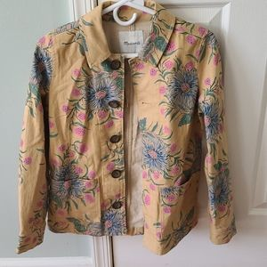 NWT Madewell Painted Blooms workwear jacket